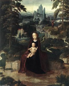 Adriaen Isenbrant - Rest during the Flight to Egypt
