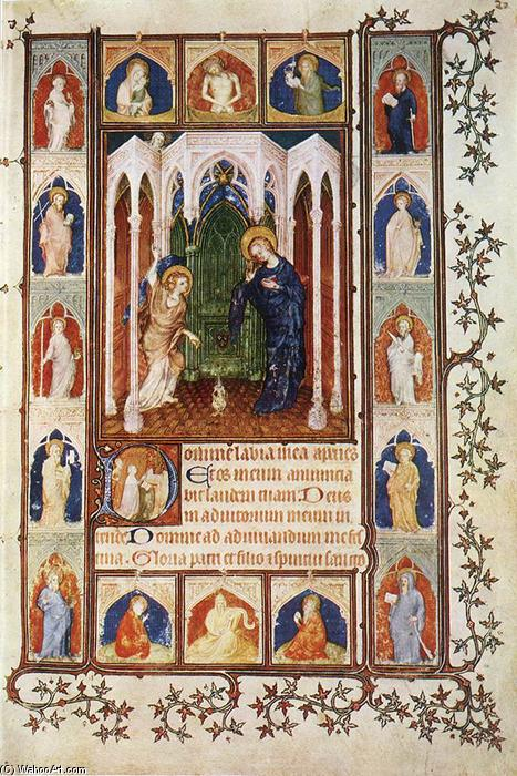 Order Paintings Reproductions | The Annunciation, 1400 by Jacquemart De Hesdin (1355-1414, France) | WahooArt.com