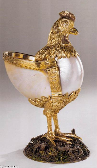 Nautilus Cup in the Form of a Chicken, 1550 by Wenzel Jamnitzer (1507-1585, Italy)