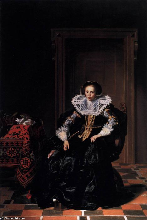 Order Art Reproductions | A Lady, 1632 by Thomas De Keyser (1596-1667, Netherlands) | WahooArt.com