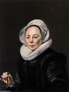 Thomas De Keyser - Portrait of a Woman with a Balance