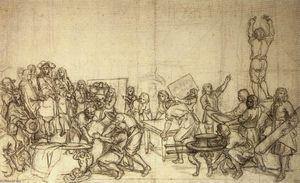Charles Le Brun - Louis XIV Visiting the Gobelins Factory