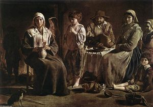 Antoine (Brother) Le Nain - Peasant Family