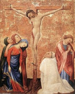 Jean De Beaumetz - Christ on the Cross with a Carthusian Monk