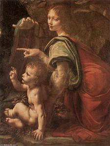 Leonardo Da Vinci - Virgin of the Rocks (detail)