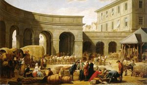 Nicolas Bernard Lépicié - The Courtyard of the Customs House