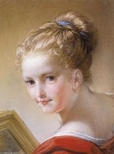 Benedetto Luti - Head of a Young Girl