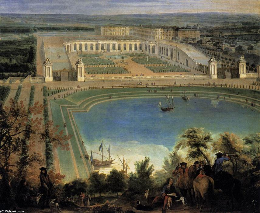 View of the Orangerie (detail), 1688 by Jean-Baptiste Martin (Martin Des Batailles) | Painting Copy | WahooArt.com