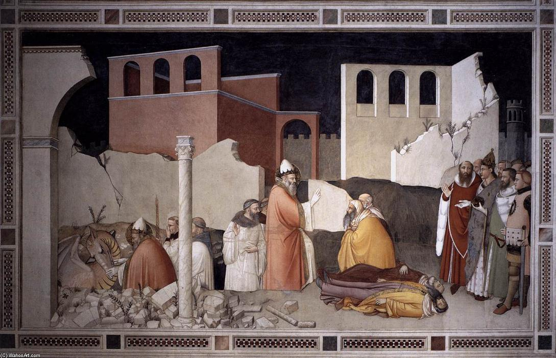 Pope St Sylvester's Miracle, Frescoes by Maso Di Banco