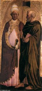 Masolino Da Panicale - Pope Gregory the Great (?) and St Matthias