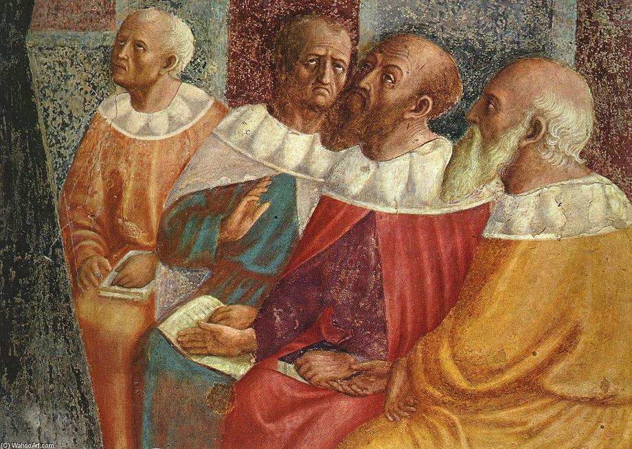 The Philosophers of Alexandria (detail), Frescoes by Masolino Da Panicale (1383-1447, Italy)