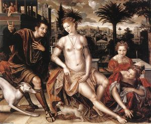 Jan Massys - David and Bathsheba