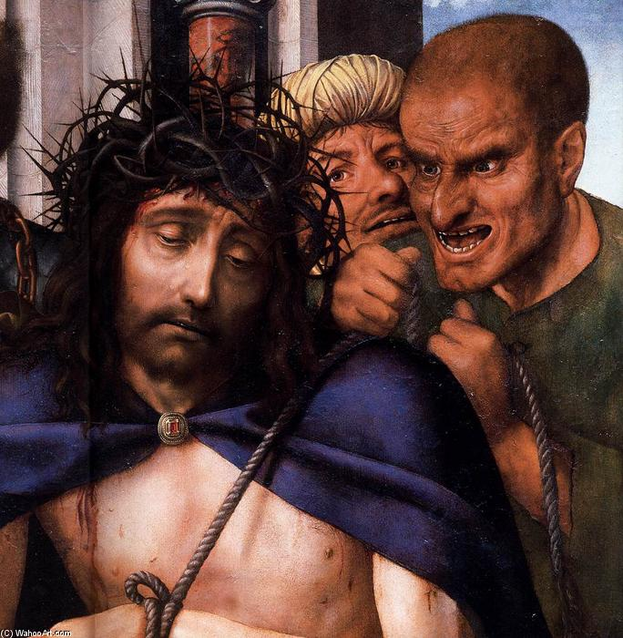 Ecce Homo (detail), Oil by Quentin Massys (1466-1530, Belgium)