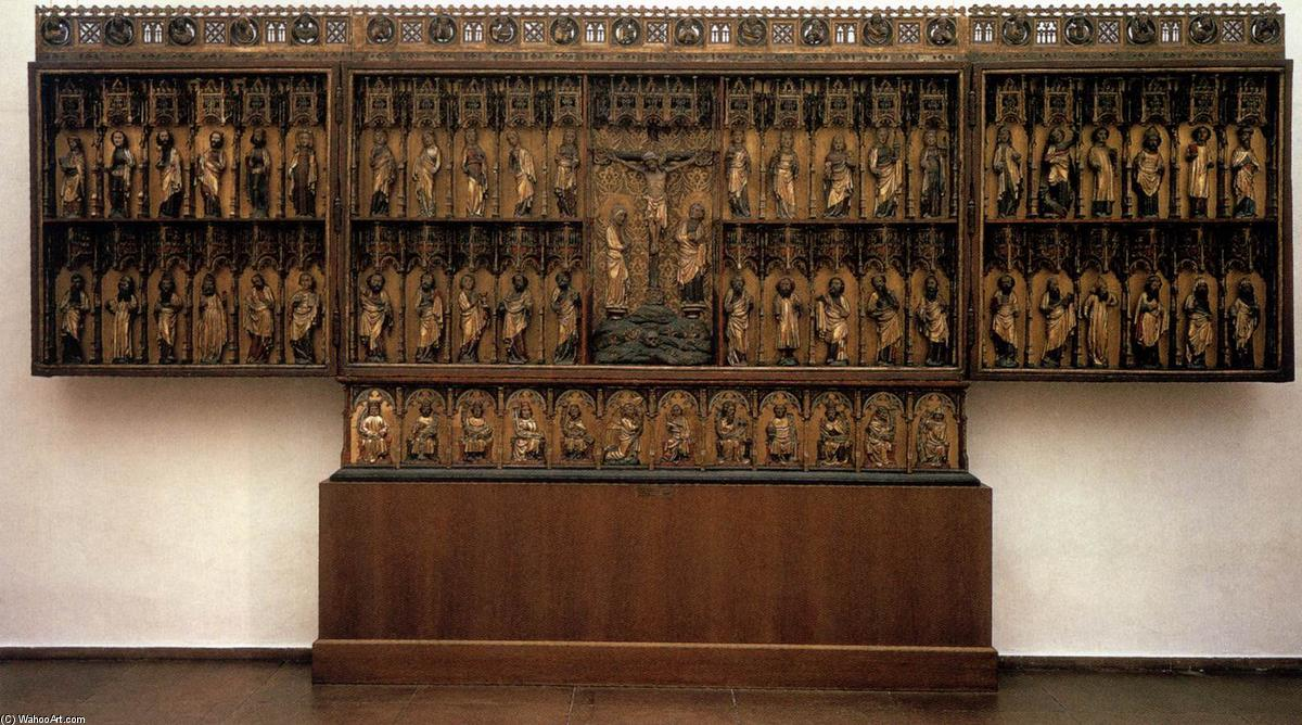Grabow Altarpiece, Wood by Master Bertram (1345-1415, Germany)