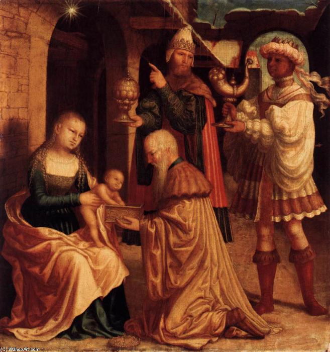 The Adoration of the Magi, Oil On Panel by Master Of Ab Monogram