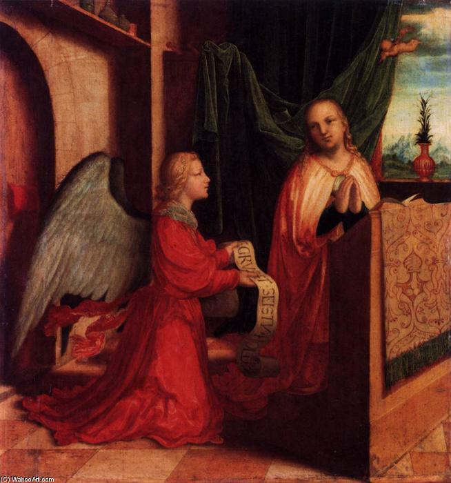 The Annunciation, Oil On Panel by Master Of Ab Monogram