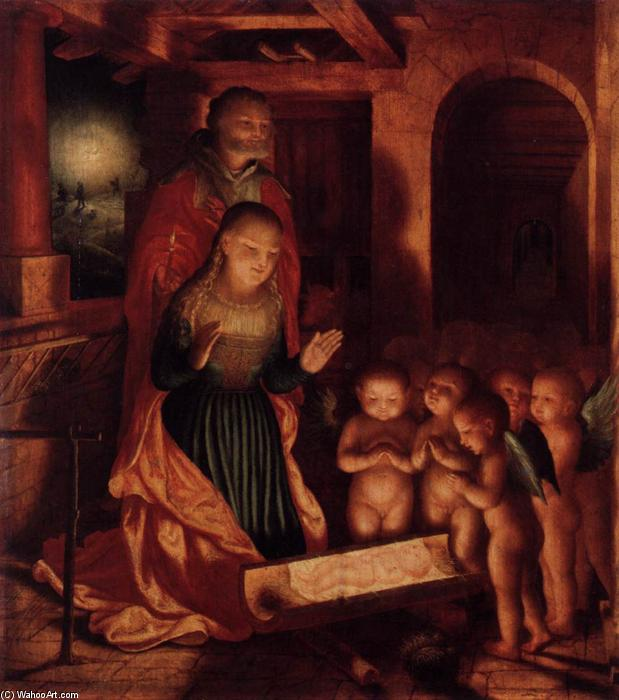 The Birth of Jesus, Oil On Panel by Master Of Ab Monogram