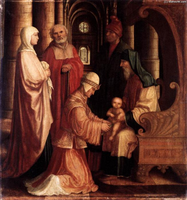 The Circumcision, Oil On Panel by Master Of Ab Monogram