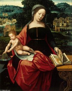 Master Of Female Half Lengths - Madonna and Child