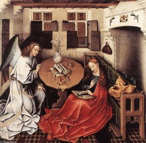 Robert Campin (Master Of Flemalle) - Annunciation