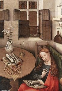 Robert Campin (Master Of Flemalle) - Annunciation (detail)