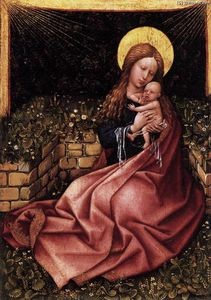 Robert Campin (Master Of Flemalle) - Madonna by a Grassy Bank