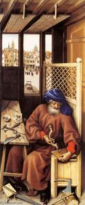 Robert Campin (Master Of Flemalle) - Mérode Altarpiece (right wing)