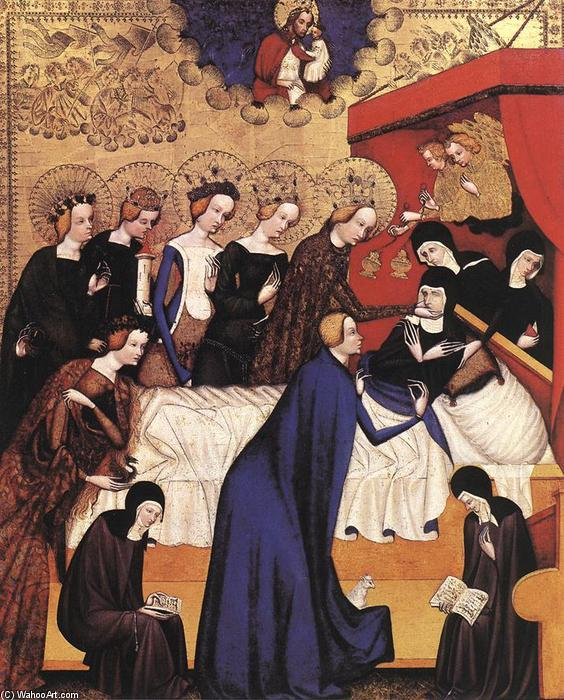 The Death of St. Clare, 1410 by Master Of Heiligenkreuz | Reproductions Master Of Heiligenkreuz | WahooArt.com
