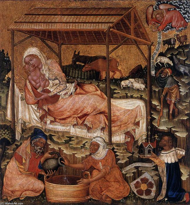 Nativity, 1350 by Master Of Hohenfurth | Famous Paintings Reproductions | WahooArt.com