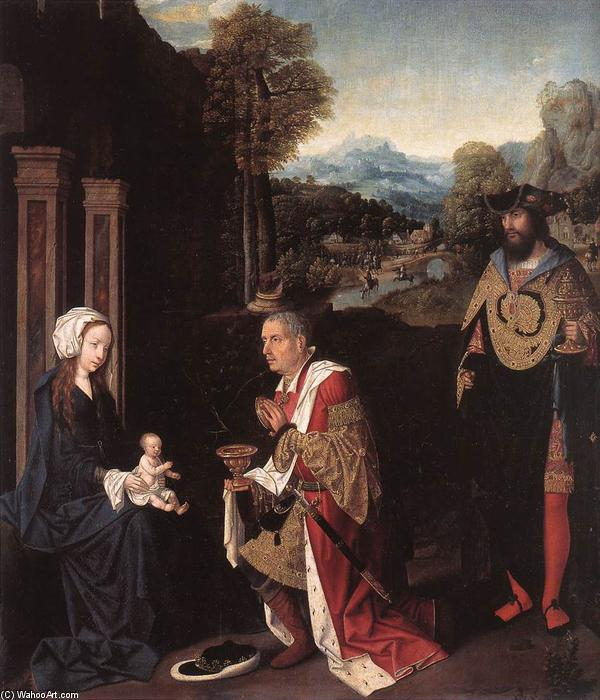 Adoration of the Magi by Master Of Hoogstraeten | Art Reproductions Master Of Hoogstraeten | WahooArt.com
