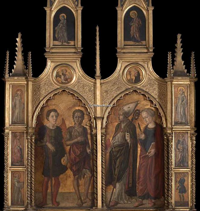 Pratovecchio Altarpiece (lateral panels), 1450 by Master Of Pratovecchio | Paintings Reproductions Master Of Pratovecchio | WahooArt.com