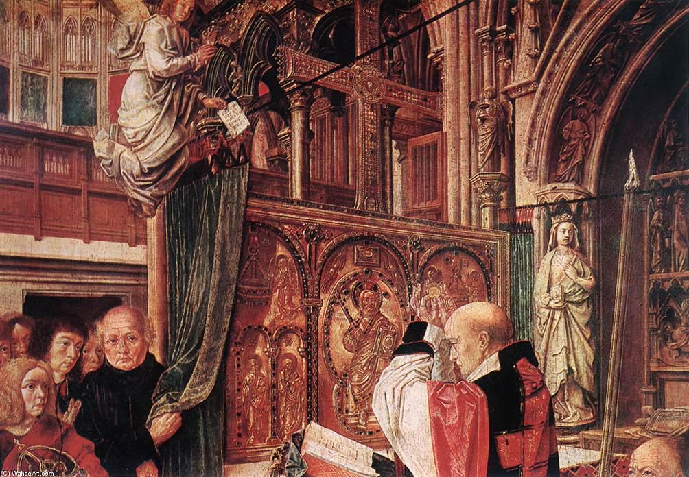 St Gilles` Mass (detail), 1500 by Master Of Saint Gilles | Art Reproduction | WahooArt.com