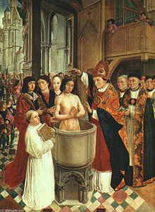 Master Of Saint Gilles - The Baptism of Clovis