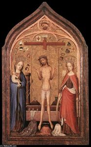 Master Of Saint Veronica - The Man of Sorrow with the Virgin and St Catherine