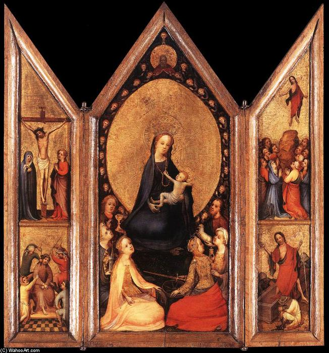 Triptych (open), 1410 by Master Of Saint Veronica | WahooArt.com