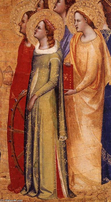 Coronation of the Virgin (detail), 1365 by Master Of San Lucchese | Art Reproduction | WahooArt.com