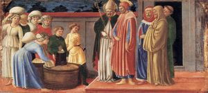 Master Of The Castello Nativity - Sts Justus and Clement Multiplying the Grain of Volterra