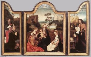 Master Of The Holy Blood - Virgin and Child with St Catherine and St Barbara