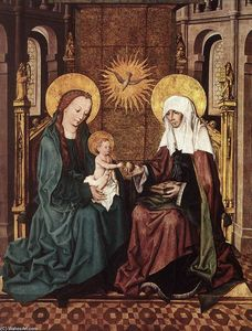 Master Of The Housebook - Virgin and Child with St Anne