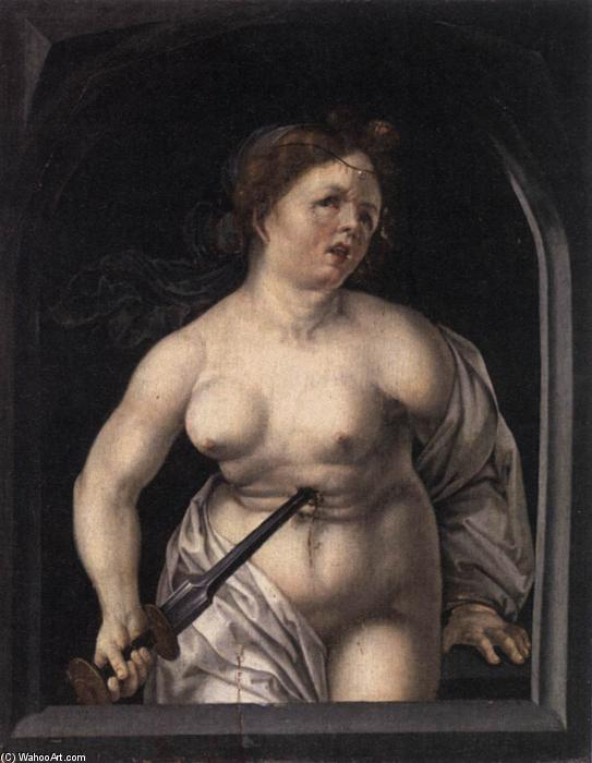 Order Oil Painting : Lucretia, 1520 by Master Of The Lille Adoration | WahooArt.com