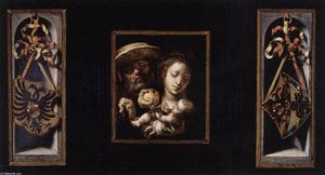 Master Of The Lille Adoration - The Holy Family with Coats of Arms