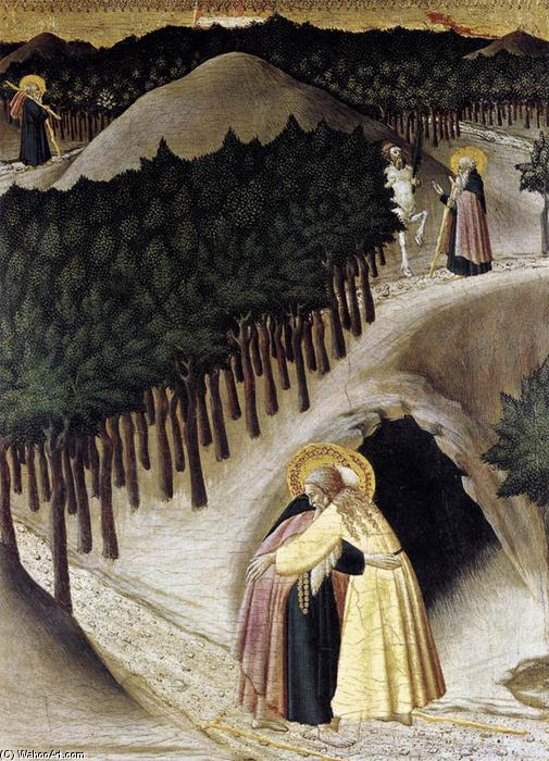 St Anthony Goes in Search of St Paul the Hermit, 1440 by Master Of The Osservanza | WahooArt.com
