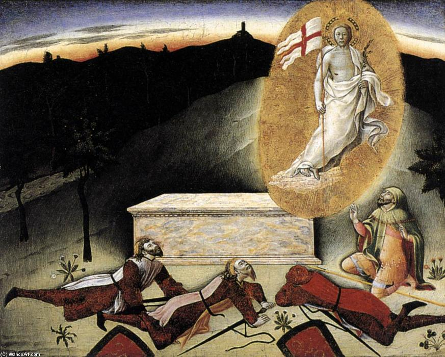 The Resurrection, 1445 by Master Of The Osservanza | WahooArt.com