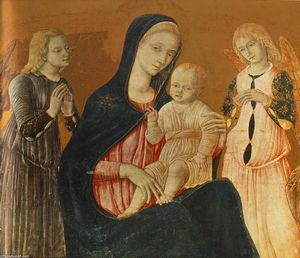 Matteo Di Giovanni - Madonna with Child and Two Angels