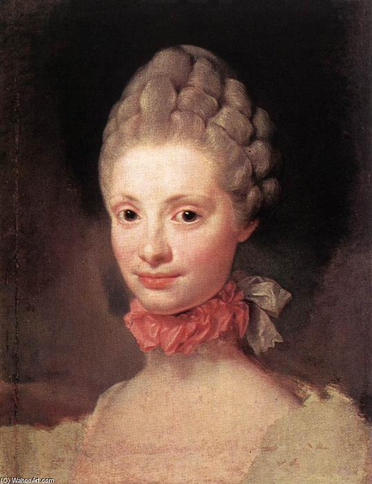 Order Art Reproduction : Maria Luisa of Parma, 1765 by Anton Raphael Mengs (1728-1779, Czech Republic) | WahooArt.com