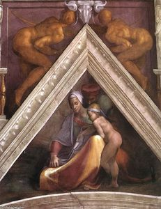 Michelangelo Buonarroti - Ancestors of Christ: figures (10)
