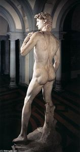Michelangelo Buonarroti - David (rear view)