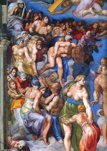 Michelangelo Buonarroti - Last Judgment (detail) (10)