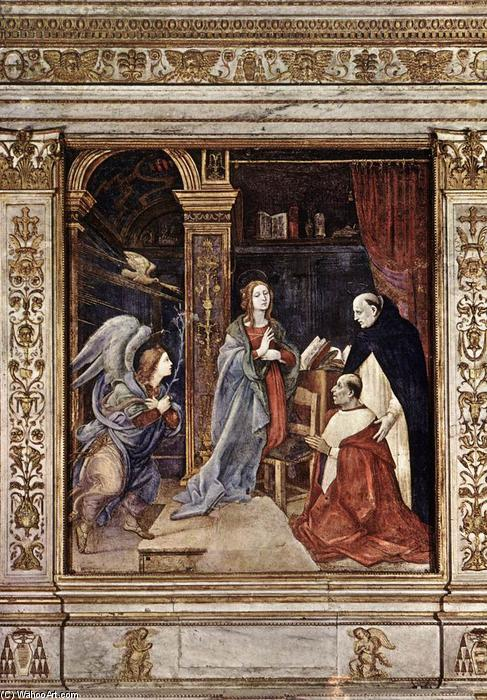 Annunciation, 1489 by Filippino Lippi (1457-1504, Italy) | Reproductions Filippino Lippi | WahooArt.com