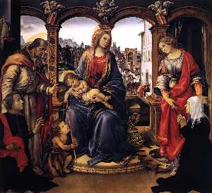 Filippino Lippi - Madonna with Child and Saints